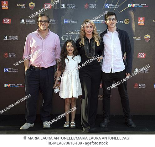Gabriele Muccino and Angelica Russo during the Red carpet The Gladiator Concert, Rome, ITALY-06-06-2018