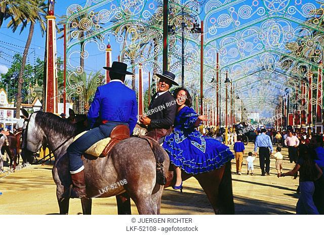 Horse Fair, Feria del Caballo, Jerez de la Frontera, Province Cadiz, Andalusia, Spain