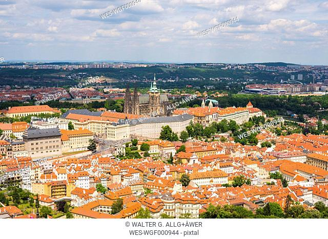 Prague, Nove Mesto, Old town, Mala Strana with Prague Castle