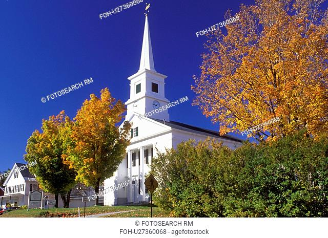church, Dublin, New Hampshire, NH, Community Church in the town of Dublin in the autumn