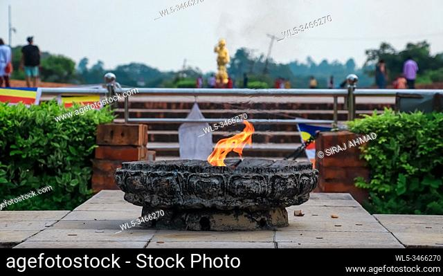 Eternal Peace Flame at Lumbini Premises in Nepal