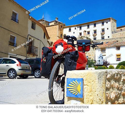 Chinchilla Montearagon bicycle by Saint James Way of Levante at La Mancha Spain