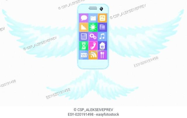 Mobile phone smartphone with wings