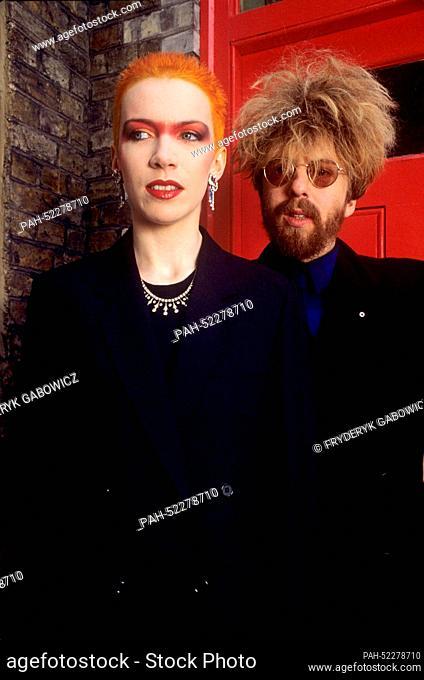 Eurotythmics - Annie Lennox und David Stewart - on 3 June 1983 in London. | usage worldwide. - London/United Kingdom of Great Britain and Northern Ireland