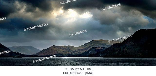 Panoramic view of Ullswater lake, The Lake District, UK
