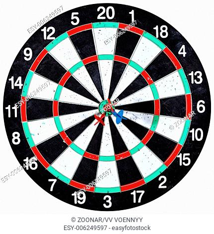dart board with three arrows