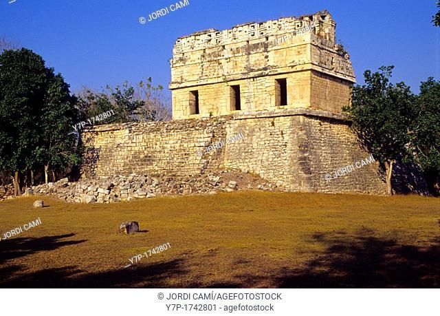 Casa Colorada, The Red House, Chichen Itza Archaeological Site, Chichen Itza  Mexico