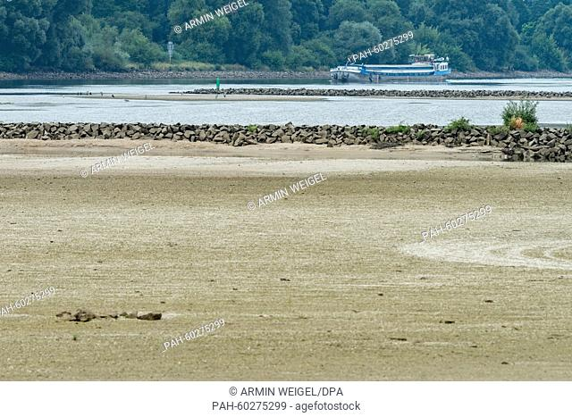 A ship operates on the Danube river at low water near Mariaposching, Germany, 23 July 2015. The low water of the Danube due to the overdue rainfall interferes...