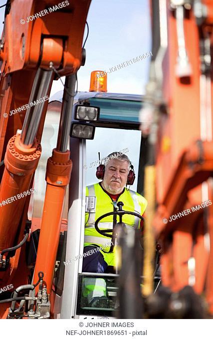 Excavator driver, Gothenburg, Sweden