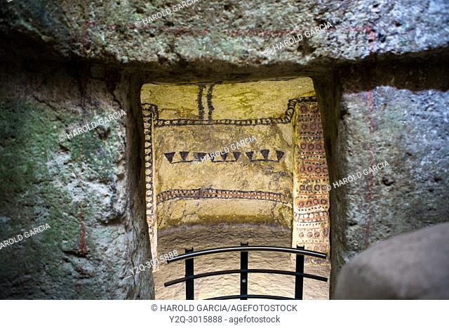 Pre-Columbian underground burial chamber. Tierradentro National archeological park. Department of Cauca, Colombia