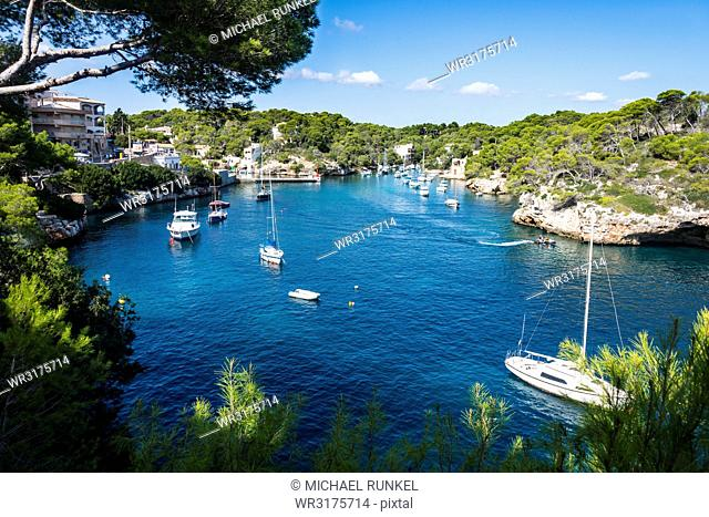Beautiful bay of Cala Llombards, Santanyi, Mallorca, Balearic Islands, Spain, Mediterranean, Europe