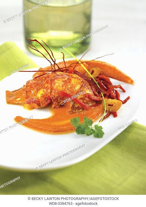 bogavante al ajoarriero / garlic lobster