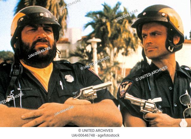 ZWEI AUßER RAND UND BAND / Crime Busters ITA 1976 / E. B. Clucher Szene mit BUD SPENCER (Willbur Walsh) und TERENCE HILL (Matt Kirby). Regie: E. B