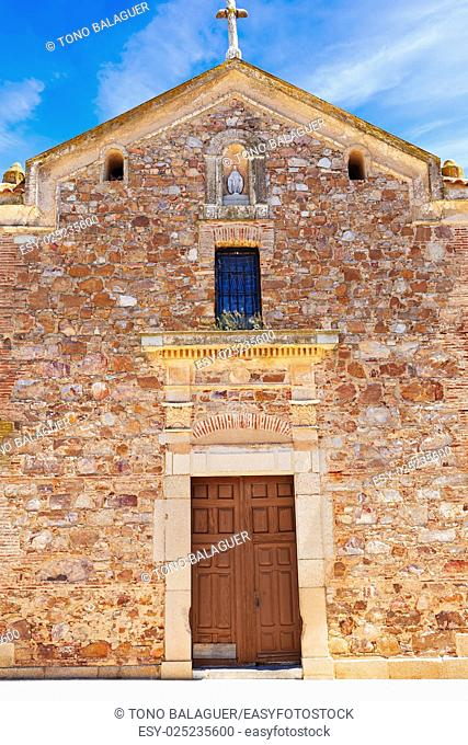 Torremejia church near Merida in Extremadura Spain by via de la Plata way