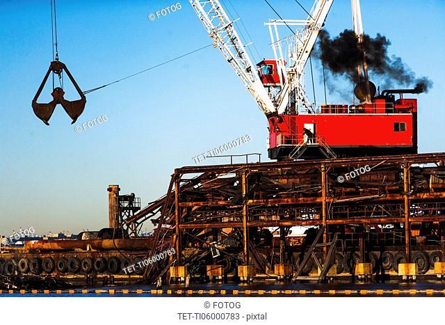 Crane in commercial dock