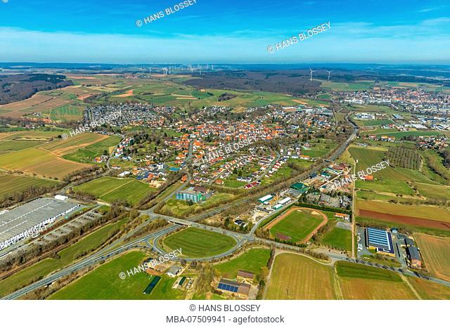 District Mengerinhausen in Bad Arolsen, Waldeck-Frankenberg, Hesse, Germany