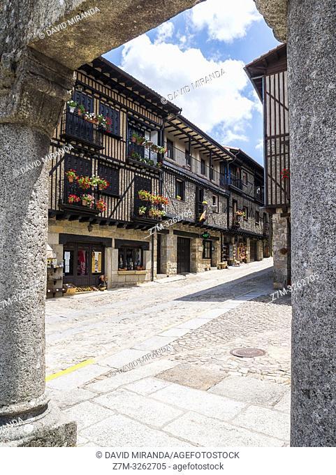 Plaza de San Antonio en La Alberca. Sierra de Francia. Salamanca. Castilla León. España