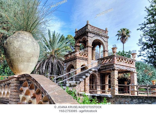 Giardini della Villa Comunale, Taormina, Messina, Sicily, Italy