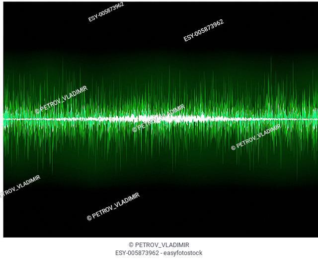 Sharp cool green waveform. EPS 8