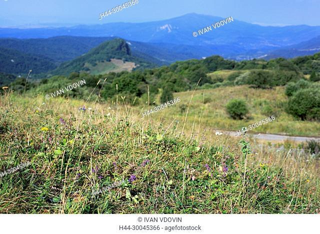 Mountain landscape near Gombori, Shida Kartli, Georgia