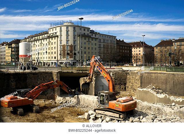 subway construction, Austria, Vienna, Vienna