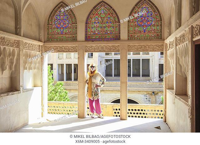 Abbasian Historical House (Khan-e Abbasian). Kashan, Iran. Asia