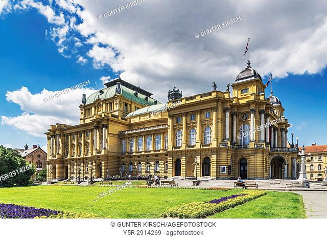 The building of the Croatian National Theater Zagreb is located on Marshal Tito Square in the city centre of Zagreb. The building was built in 1895, Zagreb