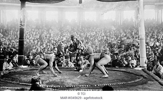 japan, tokyo, competition among sumo wrestlers in Tokyo, 1930-40