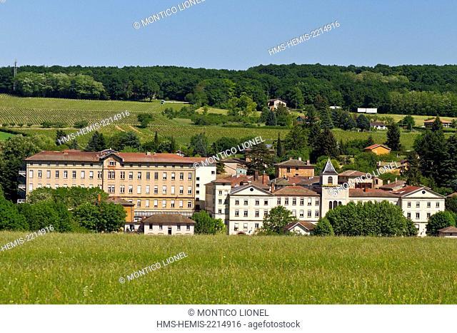 France, Rhone, Beaujolais, Pierre Dorées, Alix's village