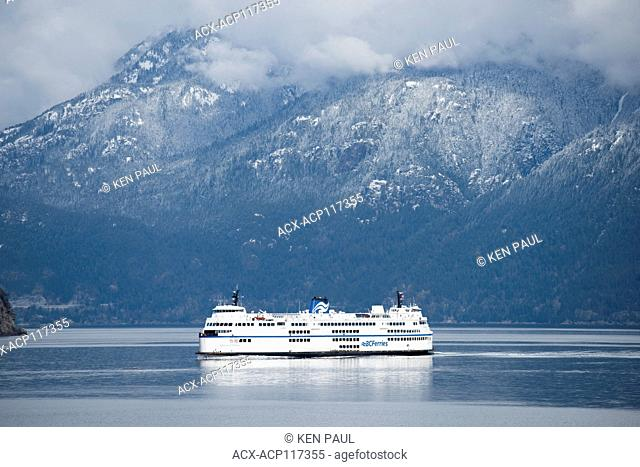 BC Ferries Queen of Surrey in Howe Sound, British Columbia, Canada