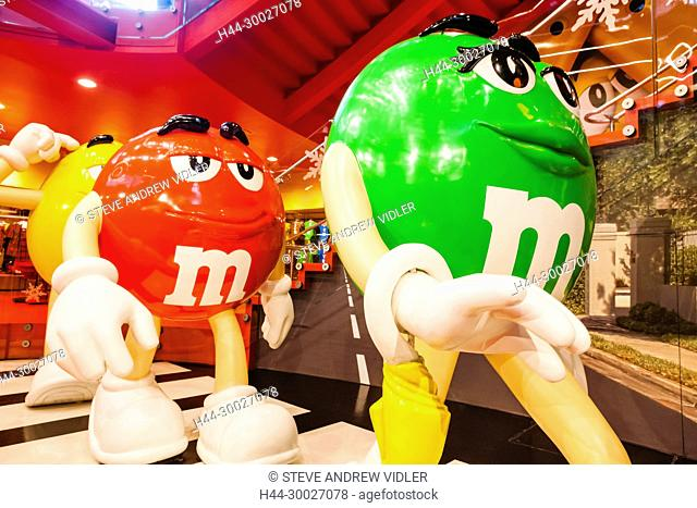 England, London, Leicester Square, M&M Store, M&M Road