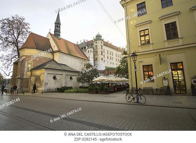 Church of St Giles in Krakow Poland