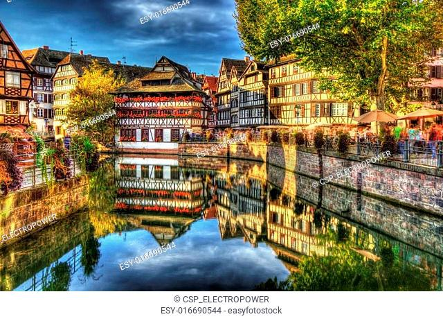 Historic district Petite France of Strasbourg