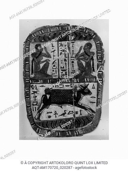 Footboard of Pakherenkhonsu, Late Period, Kushite, Dynasty 25, ca. 712–664 B.C., From Egypt, Upper Egypt, Thebes, Khokha, Tomb of Aafenmut, Pit 1