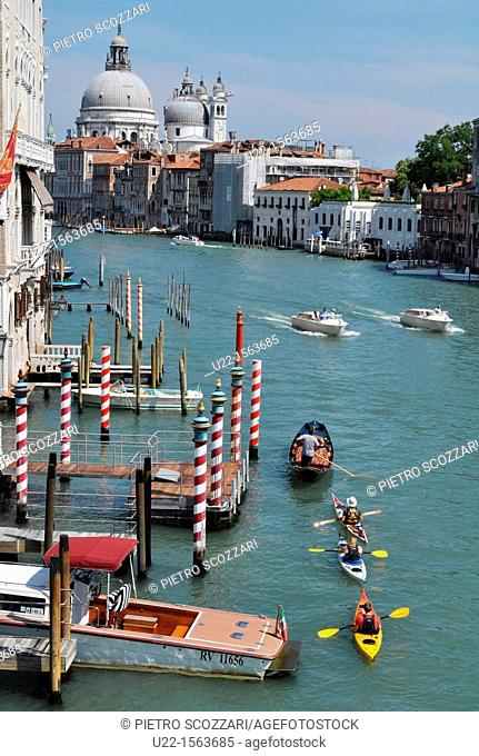 Venezia (Italy): the Canal Grande, seen from the Ponte dell'Accademia