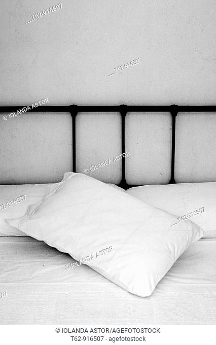 Head of a bed  Rural design  Black and white texture