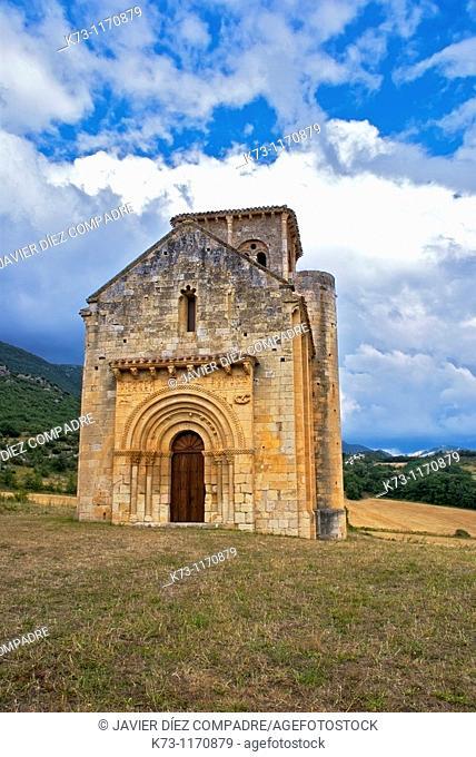 Romanesque Church of San Pedro de Tejada (12th century). Puente-Arenas. Burgos province. Castilla y Leon. Spain