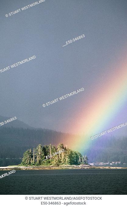 Intense rainbow, Frederick Sound. South East Alaska Inside Passage