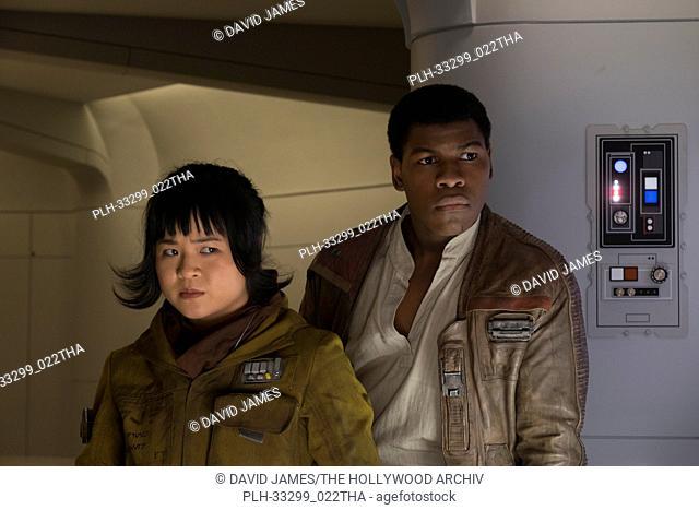 """L to R: Rose (Kelly Marie Tran) and Finn (John Boyega), """"""""Star Wars: The Last Jedi"""""""" (2017) Lucasfilm Ltd"""