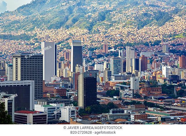Panoramic Aburra Valley, Cerro Nutibara, Medellin, Antioquia, Colombia, South America