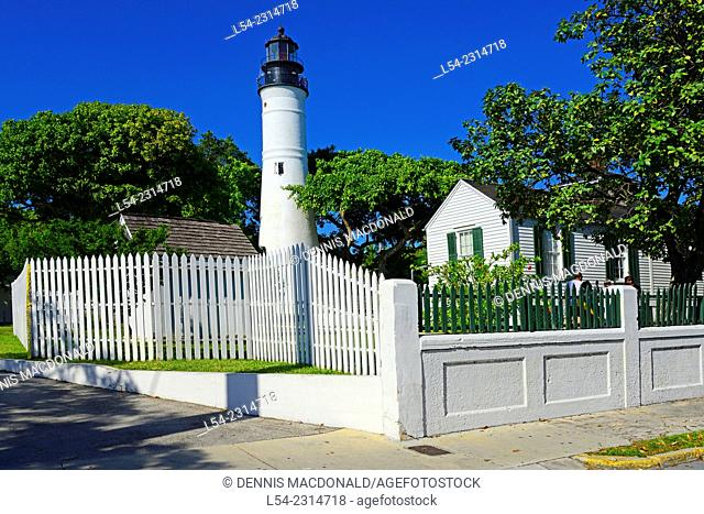 Key West Lighthouse at Key West Florida FL destination for Western Caribbean Cruise from Tampa