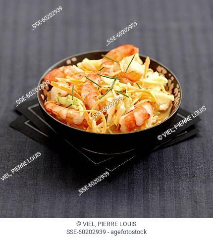 Coleslow-style shrimps