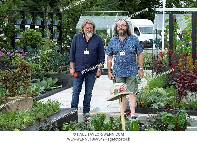 RHS Hampton Court Palace Flower Show 2017 - Press Day Featuring: The Hairy Bikers Where: London, United Kingdom When: 03 Jul 2017 Credit: Paul Taylor/WENN