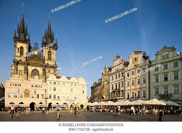 Tyn Church Old Town Square Staromestske Namesti Prague Czech Republic