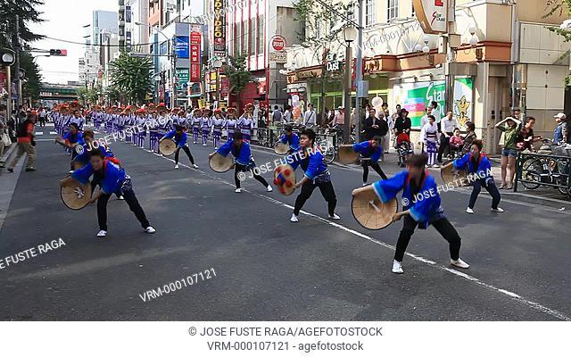Japan-Tokyo City-Shinjuku District-Okubo Area-Autumn Parade