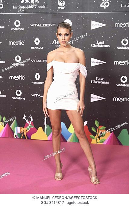Jessica Goicoechea attends Los 40 Music Awards at Wizink Center on November 8, 2019 in Madrid, Spain