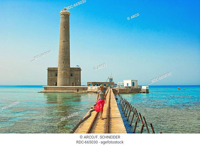 Jetty of Sanganeb lighthouse reef, Sudan, Africa, Red Sea