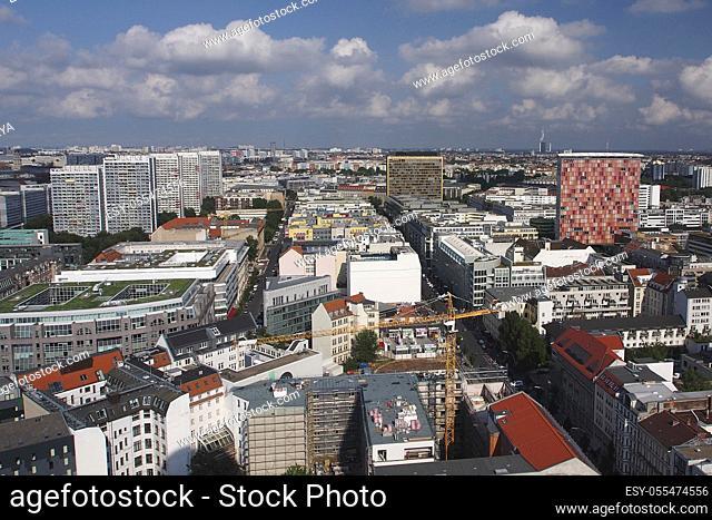 Aerial panoramic view, Berlin, Germany, Europe