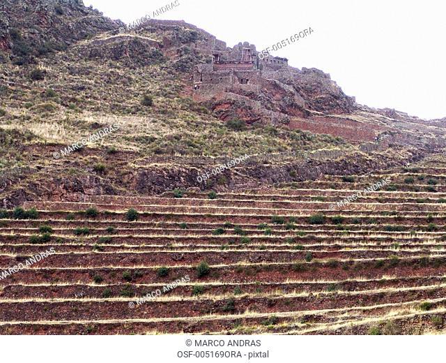 peru ollantaytambo mountains hill
