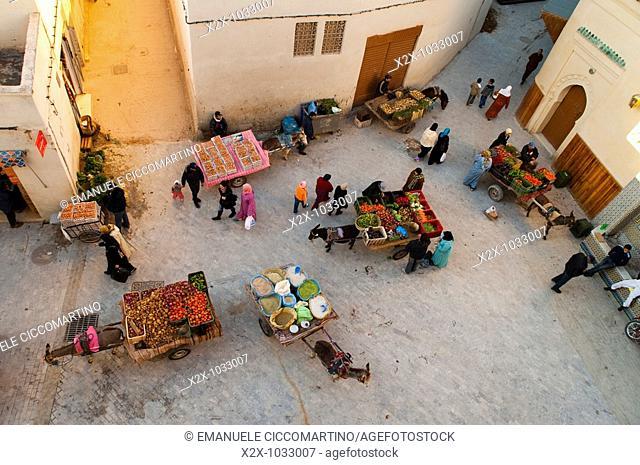 Street hawkers' market, Medina, Oujda, Oriental region, Morocco